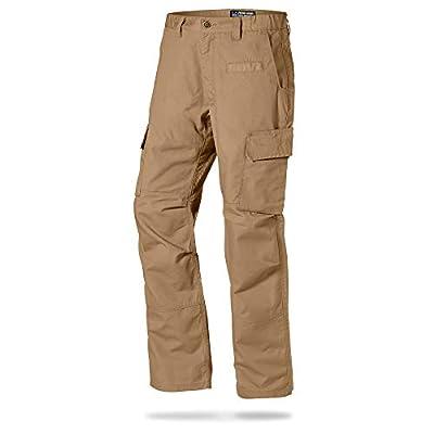 LA Police Gear Mens Urban Ops Tactical Cargo Pants - Elastic WB - YKK Zipper - Coyote Brown - 42 x 30