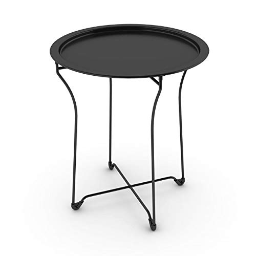 dar Living Metal Tray Side Table, Black