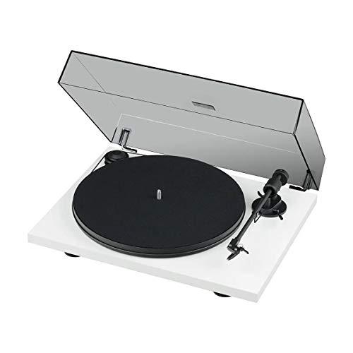 Pro-Ject Primary E Phono, Audiophiler Plug&Play Plattenspieler mit integrierter Phono Vorstufe (Weiß)