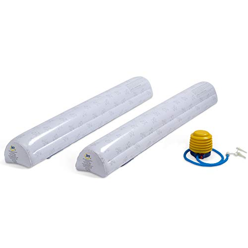 Serta Perfect Sleeper Inflatable Bed Rails for Toddlers & Kids with Foot Pump (2 Pack), White