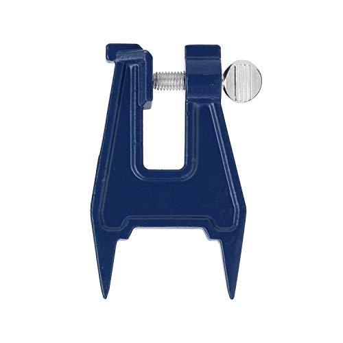 Soporte de guía de motosierra de hierro, sierra eléctrica de gasolina, motosierra de molienda de cadena de herramientas auxiliares de cadena de limado de cadena (color: azul)