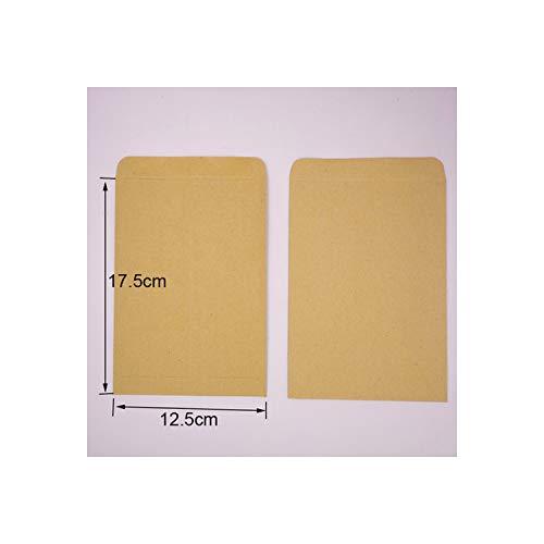 Kraft envelop 10 stks leeg multi-size zelfklevende papieren tas ansichtkaart bruiloft uitnodiging envelop school bureau briefpapier 17,5 x 12,5 cm