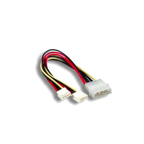 "Kentek 8 Inch 8"" 4 Pin Molex 5.25 Male to 2 X 4 Pin 3.5 Floppy Drive FDD Female Y-Splitter M/F IDE DC Internal Computer PC Power Cable Adapter Cord"
