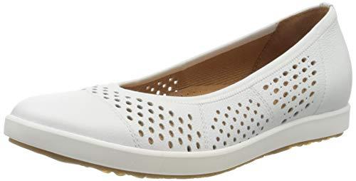 Gabor Shoes Damen Comfort Sport Geschlossene Ballerinas, Weiß (Weiss 50), 39 EU