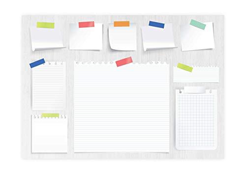 Friendly Fox Schreibtischunterlage Papier POST-ITs - Wochenplaner A3 Block aus Papier zum Abreißen - 25 Blatt - Bürounterlage Schreibtisch für Jungen Mädchen Teenager Erwachsene