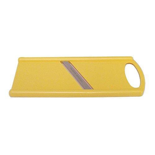 Gurkenhobel pastell-gelb, beidseitig schneidend, Hobel Reibe Küchenreibe Küchenhobel Gurkenreibe