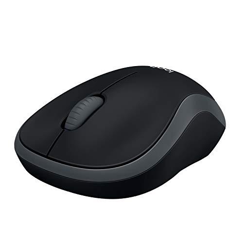 Logitech M185 Souris sans Fil, 2,4 GHz avec Nano-Récepteur USB, Batterie Longue Durée 12 Mois, Suivi Optique 1000 PPP, Ambidextre, Compatible avec PC/Mac/Portable - Grise