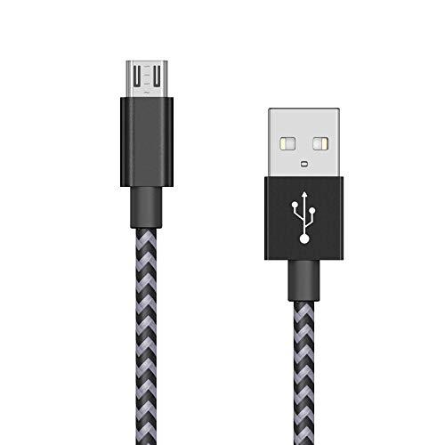 Cable de carga Cisirun para PS4 y Xbox One Cable de carga para control remoto, 3 m, gris y negro