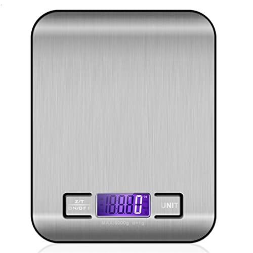 Lixiaonmkop 5kg / 10kg Elektronische Küchenwaage Digitale Lebensmittelwaage Edelstahl Waage Skala LCD Hohe Messwerkzeuge (Color : 10kg Black Base)