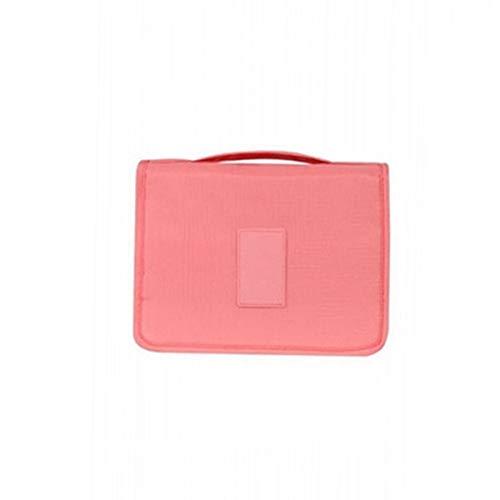 Sac cosmétique Voyage Wash étanche Hanging Portable Sac Organisateur de Bain Trousse de Toilette, Orange