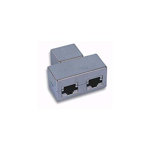 EFB-Elektronik T-modulaire adapter RJ45-bus / 2X-bus 1: afgeschermd grijs