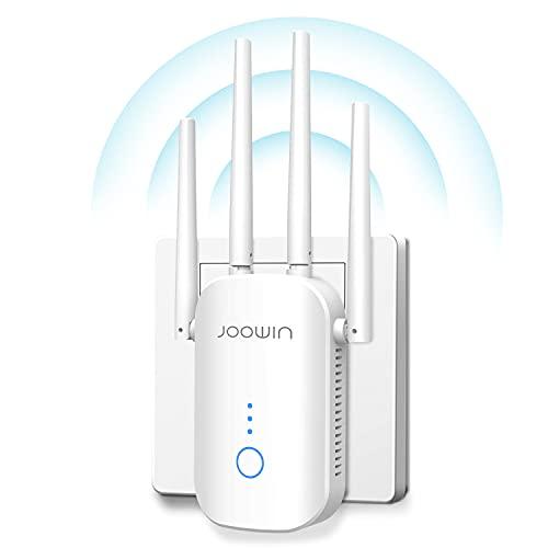 JOOWIN AC1200 Repetidor WiFi Banda Dual Amplificador WiFi 2.4 GHz y 5GHz WiFi Extender WiFi Signal Booster Compatible Ap/Enrutador Modo, Amplificador WiFi Casa con Puerto Ethernet WiFi Repeater