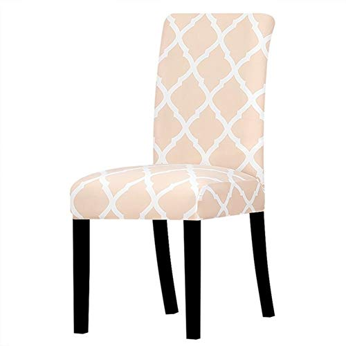 YGLONG Stuhlhussen 2 PC-Design-Hussen Elastic Stretch-Sitzstuhl-Abdeckung Slipcover for Bankett Hotel Dining Home Office Hussen (Color : K246 Nu, Specification : Universal Size)