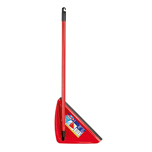 Vileda - Recogedor estándar de plástico, 80 cm de alto, color rojo y negro
