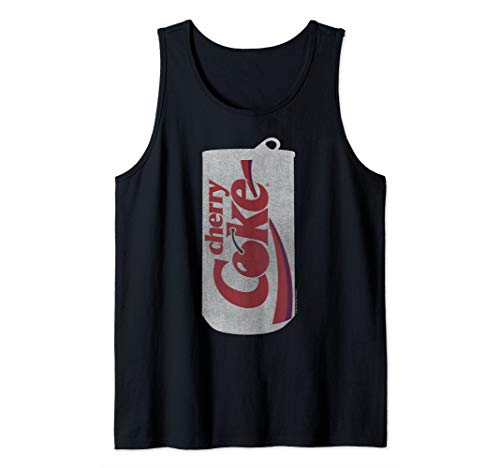 Coca-Cola Cherry Coke Can Silhouette Logo Tank Top