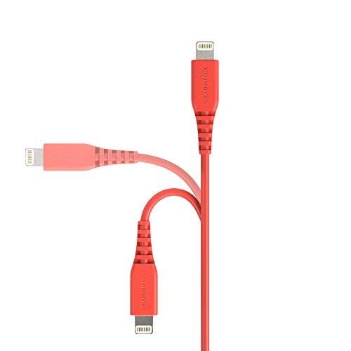 Amazon Basics Lightning auf USB A Kabel, Apple MFi Zertifiziert - Rot, 3 m, 1er Pack