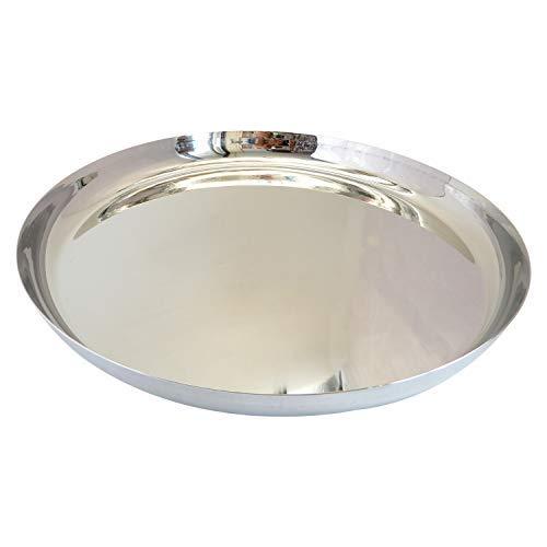 Platos para niños pequeños de acero inoxidable, plato para servir pizza, platos ecológicos para servir/merienda/camping, apto para lavavajillas - 27,94 cm