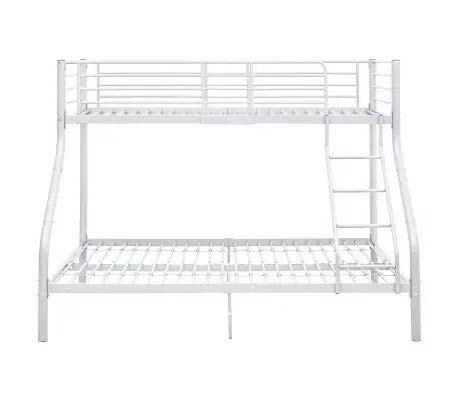 Ausla - Marco de cama para litera, color blanco mental, barandillas de longitud completa, escalera de escalada para niños y adolescentes, 90 x 220 cm y 140 x 220 cm