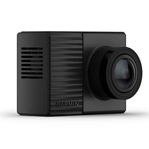 Garmin Dash Cam Tandem mit Zwei 180° Linsen für Rundumaufnahmen, Frontlinse mit 1440p, ultrakompakt, automatische Unfallerkennung, Nachtsicht mit 720p, GPS, WLAN, inkl. Speicherkarte, Sprachsteuerung