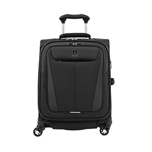Travelpro Maxlite 5 Maleta de Cabina 4 Ruedas 55x40x20 cm Blanda, Ultraligera, Expansible y Resistente 39 litros Equipaje de Viaje Avión Color Negro Garantía 5 Años