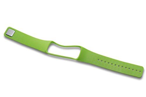 vhbw TPE Ersatz Armband L 23 cm passend für Samsung Gear Fit Smart Watch SM-R350 Fitness Uhr, Smart Watch - grün