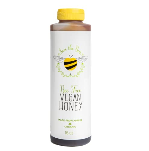 Blenditup Organic Bee Free Vegan Honey (16 Oz) - Plant Based & All Natural Apple Made Honey - Ideal for Sweetening Foods of Your Choice