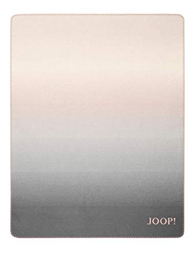Joop! Wohndecke Ombre Baumwollmischung rosé-Natur Größe 150x200 cm
