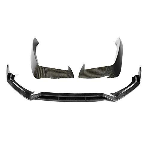 ZXCVBNM Tuning Frontlippe Diffuser, Carbon-Faser-Auto-Frontstoßstange Lip Body Kit Spoiler Splitter Diffusor Gepasst Fit for Audi A4 S4 B9 Sline Sport 2017-UP Auto-Abdeckung (Color : Carbon Fiber)