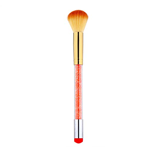 Lurrose Nail Art-penseel voor het verwijderen van stof 18 * 3 cm oranje