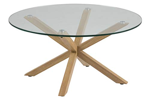 Amazon Brand - Movian Zala - Mesa de centro, 82 x 82 x 40 cm (largo x ancho x alto), marrón