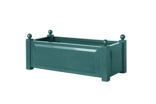 Preisvergleich Produktbild KHW 11221 Pflanzkasten rechteckig,  100 cm lang,  43 cm breit,  40 cm hoch,  grün
