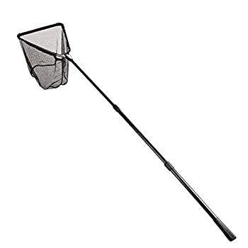 Fiblink 118 inches Folding Fishing Landing Net Fish Net with Extending Telescoping Aluminum Pole Handle  59-118 inches