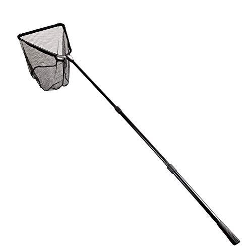 Fiblink 118 inches Folding Fishing Landing Net Fish Net with Extending Telescoping Aluminum Pole Handle (59-118 inches)