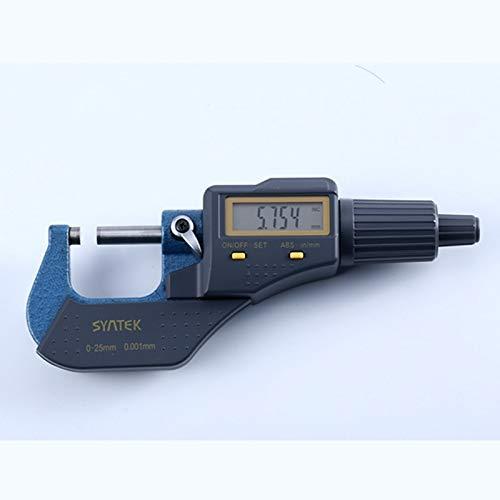 LXGANG 0,001 mm micrómetro electrónico digital 0-25mm Micrómetros exteriores Micron de vía métrica pulgadas / mm Espesor Herramientas de medición con la caja micrómetro calibradores Cabezas de micróme