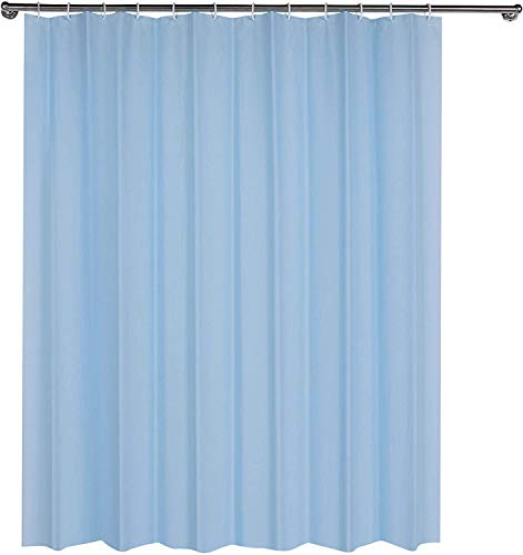 CUCO'S NEST Duschvorhang aus PEVA, 180 x 200 cm, hellblau, Duschvorhang, wasserdicht, schimmelfest, antibakteriell, inkl. 12 Ringe