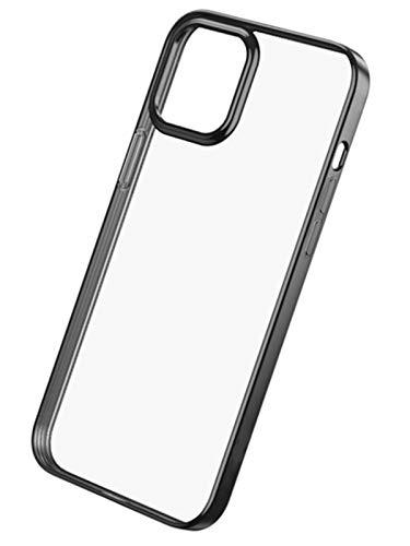 XYJP Funda Crystal Clear para iPhone 12 Y iPhone 12 Pro con Carga, Suave, Delgada, Linda, Silicona No Amarillenta, Protección A Prueba De Golpes, Funda para Teléfono, black-12 12 Pro