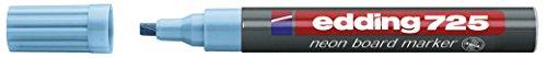 edding Neon-Boardmarker edding 725, nachfüllbar, 2-5 mm, hellblau