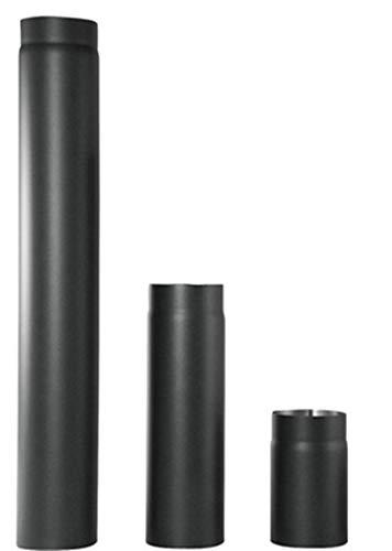 rg-vertrieb Ofenrohr Rauchrohr Kaminrohr Stahlrohr Abgasrohr Senotherm Schwarz 2mm Heizung Abzugrohr wählbar (Ø 150mm x 1000mm)