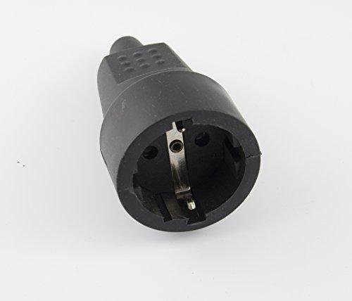 MicroConnect IC-2104 Toma eléctrica schuko hembra G, Negro, 1