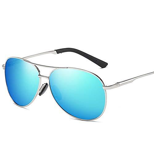 WUZHOUEUR Clout Goggle Protección UV Gafas de Sol de Moda Marco de Metal Sombrilla Espejo Gafas de Sol polarizadas clásicas (Color : G)