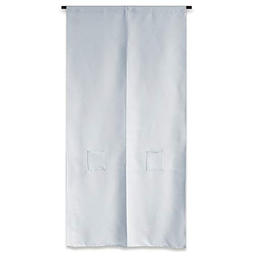 PONY DANCE 仕切り 遮光 カーテン 暖簾 見えにくい 無地 柔らかい おしゃれ ホワイトグレー 1枚 幅100丈250cm