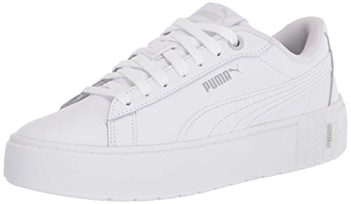 PUMA Smash Platform V2, Zapatillas para Mujer, Blanco, 40.5 EU