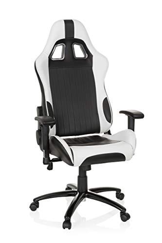 hjh OFFICE Gaming Stuhl/Bürostuhl Sportsitz Kunstleder Monaco II schwarz/weiß