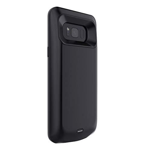 TwoCC Cubierta de Carga del Teléfono con Caja de Batería Extendida de 5500 Mah para Samsung Galaxy S8 Plus (negro)