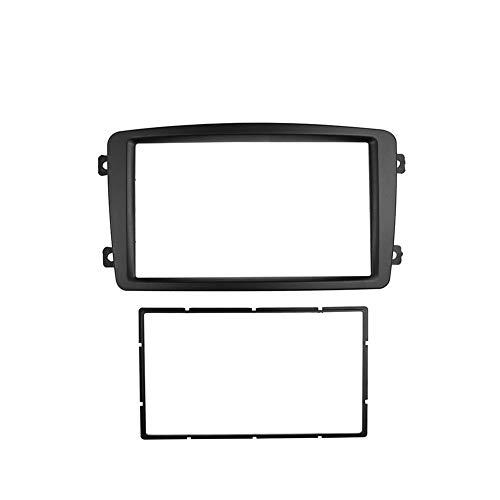 HIGHER MEN Car Accessories Parts Doble DIN Panel estéreo for Benz Clase C W203 Fascia Negro Color de Radio Reposición Tablero de instalación de Montaje Kit de Acabado de la Cara (Size : 173x98mm)