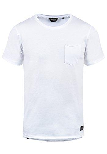 !Solid Andrej Herren T-Shirt Kurzarm Shirt Mit Rundhalsausschnitt Aus 100% Baumwolle, Größe:XXL, Farbe:White (0001)