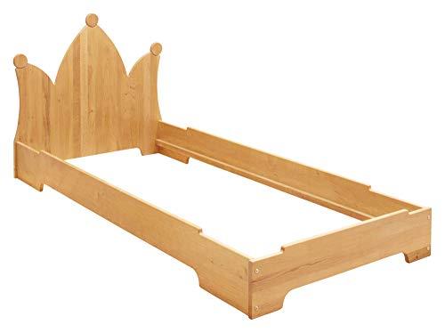 BioKinder Kai stapelbed stapelbed gastenbed met hoofdbord kroon van massief hout elzen 90 x 200 cm