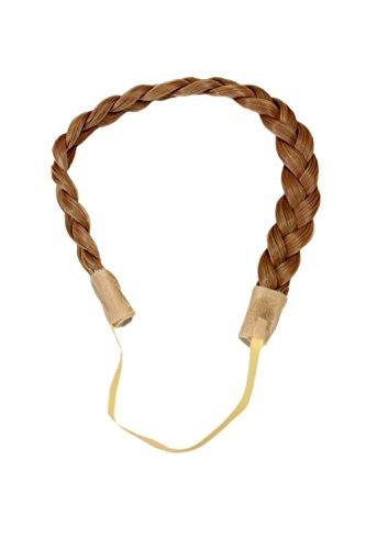 WIG ME UP ® - Postizo: goma para el cabello en trenza, banda elástica, hair circlet, pelo sintético, rubio YZF-3080-18