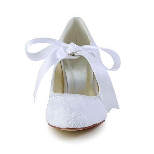 Jia Jia Wedding 14031 Hochzeitsschuhe Brautschuhe Damen Pumps weiß, EU 35 - 6