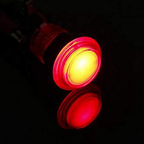 GOZAR 12V 25A Rotondo Illuminato Videogioco Arcade Illuminato Pulsante Interruttore Led Luce-Rosso